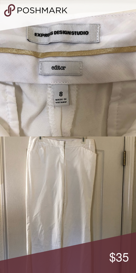 Super cute and flattering white slacks Never worn white slacks perfect for the office or a night out  Super cute and flattering white slacks Never worn white slacks perfect for the office or a night out #whiteslacks
