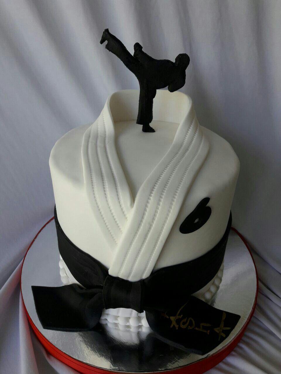 Cake Cookie Food Black Belt Bolo Karate Bolos Para Homens Bolo