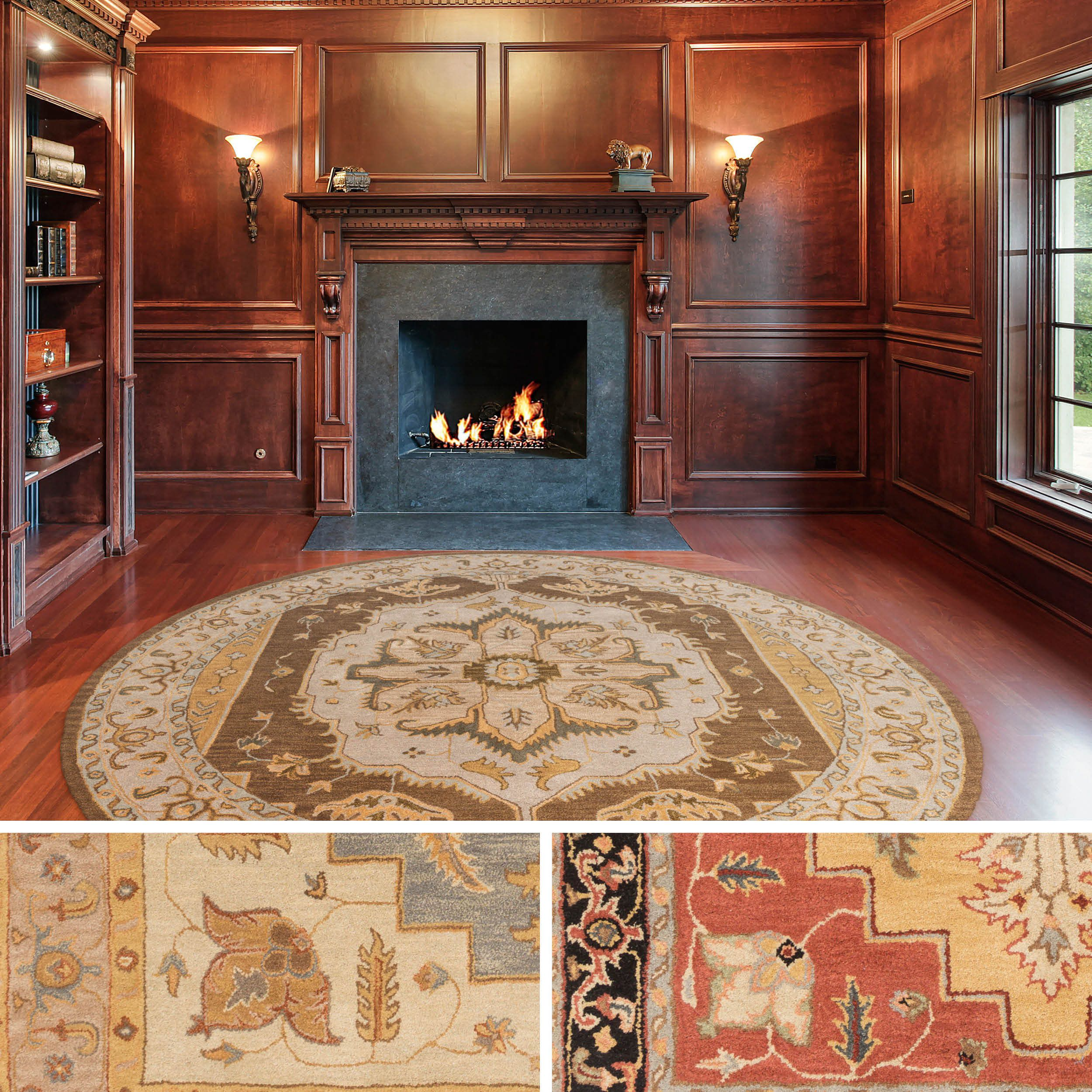 This Haru Bordered (6 Round) Rug Will Accent Any Space