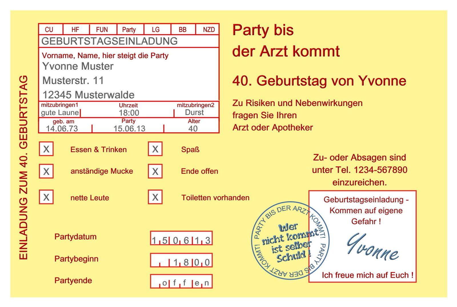 Gedicht 60 Geburtstag Lustig Einladung 50 Geburtstag