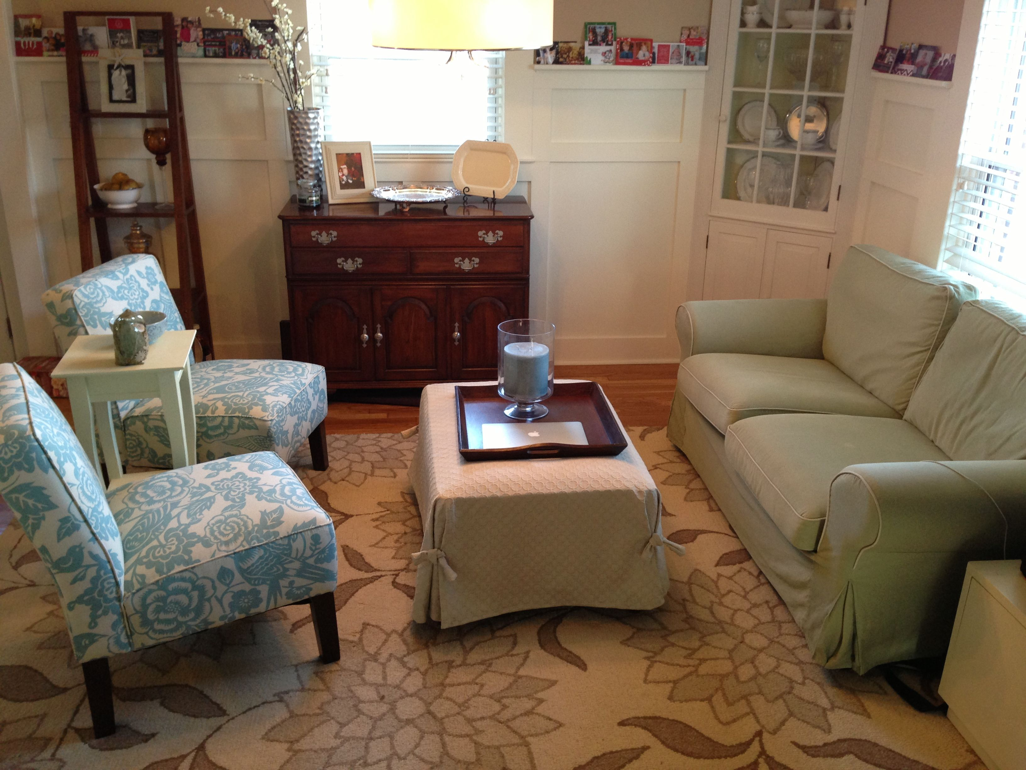 Turned My Barely Used Dining Room Into A Sitting Room Blue Floral