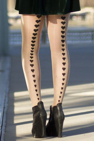 Hearts Back Seam – SheerStyle #sheerstyle #tights #fashiontights #nylons #stockings #fashion #stylist #style #legs