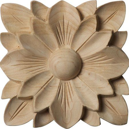 4 1 4 Inchw X 4 1 4 Inchh X 5 8 Inchp Springtime Square Rosette Rubberwood Size 4 1 4 Inchw X 4 1 4 Inchh X 5 8 Inchp Brown In 2020 Wood Rosettes Wood Carving Designs Rosettes