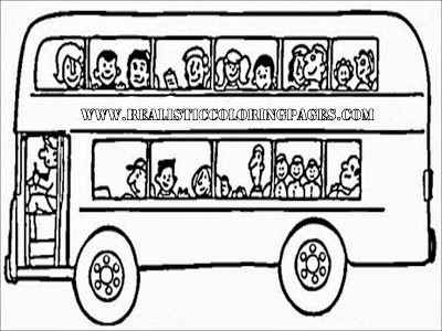 London Bus Coloring Pages To Print Immagini Disegni Da Colorare