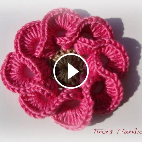 Free crochet flower pattern! :) https://www.crochetbeja.com/crochet ...