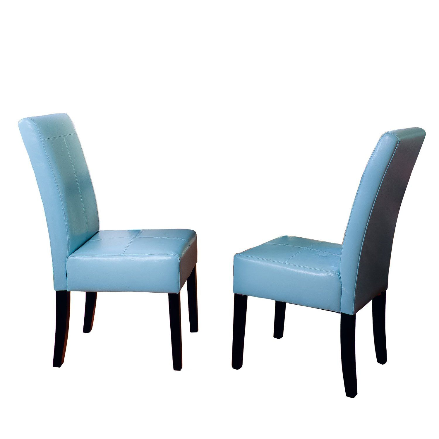 blue kitchen chairs delta sink faucets amazon com best t stitch leather dining chair 2 pack furniture decor