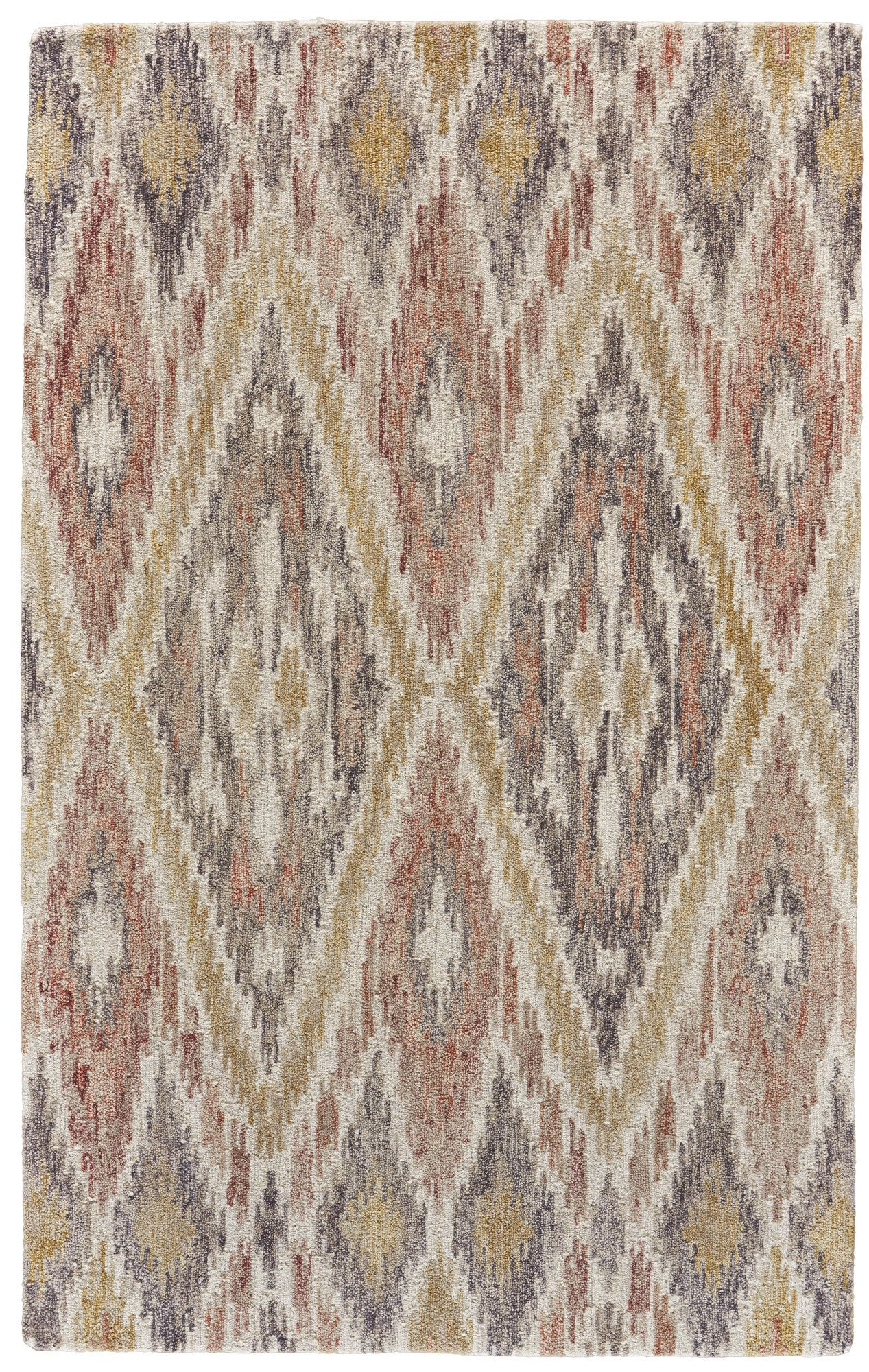 Carlotta Geometric Handmade Tufted Wool Cotton Brown Yellow Area Rug In 2021 Area Rugs Hand Tufted Rugs Tufted Rug