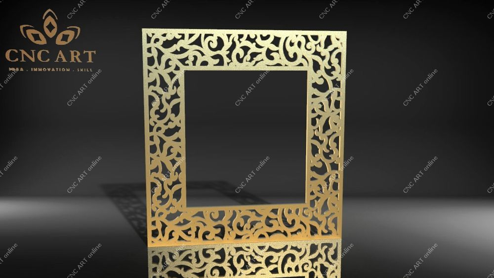 Nice mirror frame DXF laser DWG and EPS File For CNC Plasma Router water jet