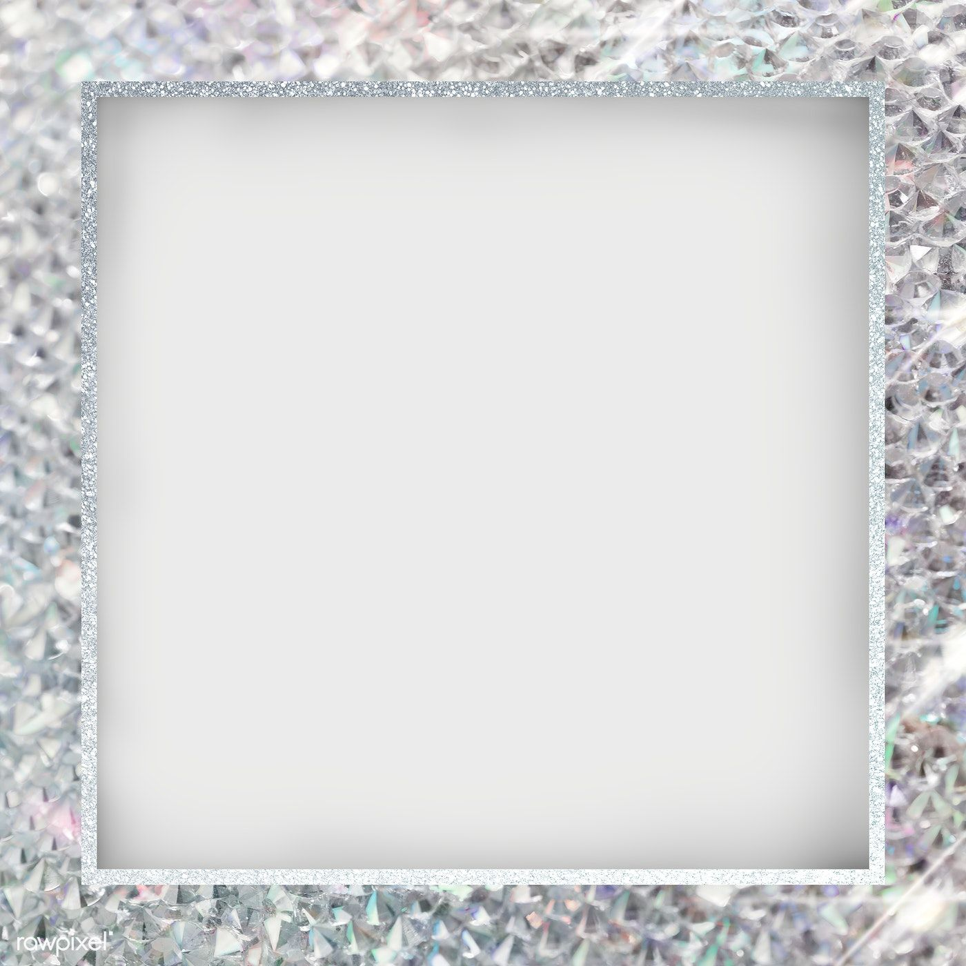 Silver Glittery Square Frame Transparent Png Premium Image By Rawpixel Com Manotang Pink Sparkle Background Glitter Background Square Frames
