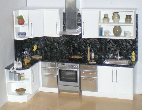 White doll house kitchen 112th Ive added a matching splashback