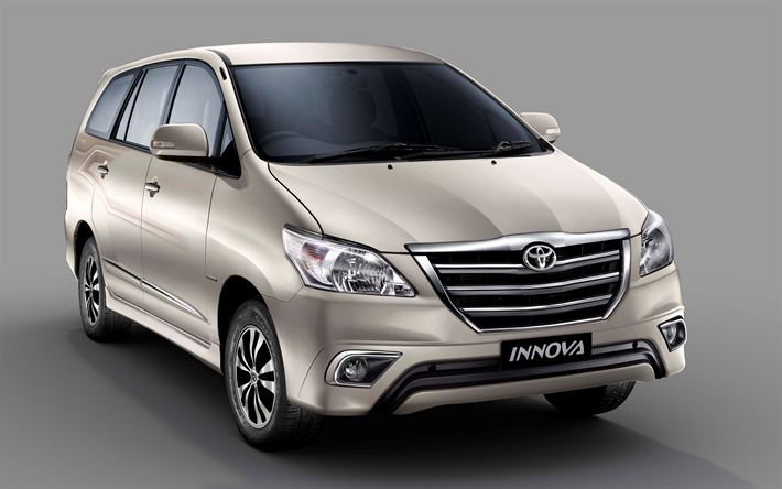 Download Wallpapers Toyota Innova 4k Japanese Minivan Exterior Front View Silver Innova Japanese Cars Toyota Toyota Innova Toyota Mini Van