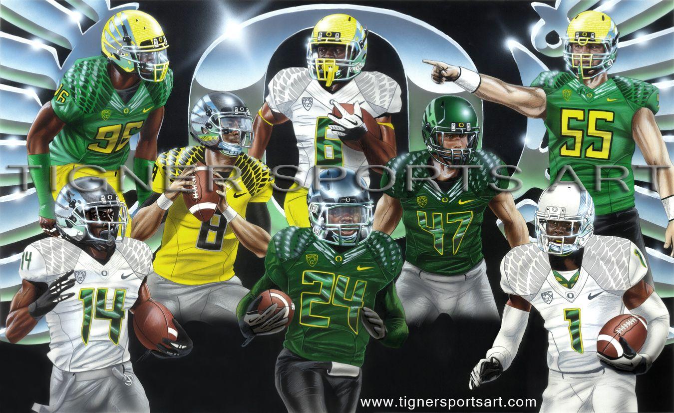 2012 oregon football painting goducks sportsart