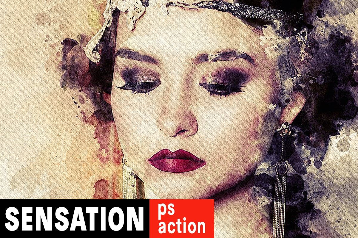 Sensation Watercolor Photoshop Action Download Watercolor