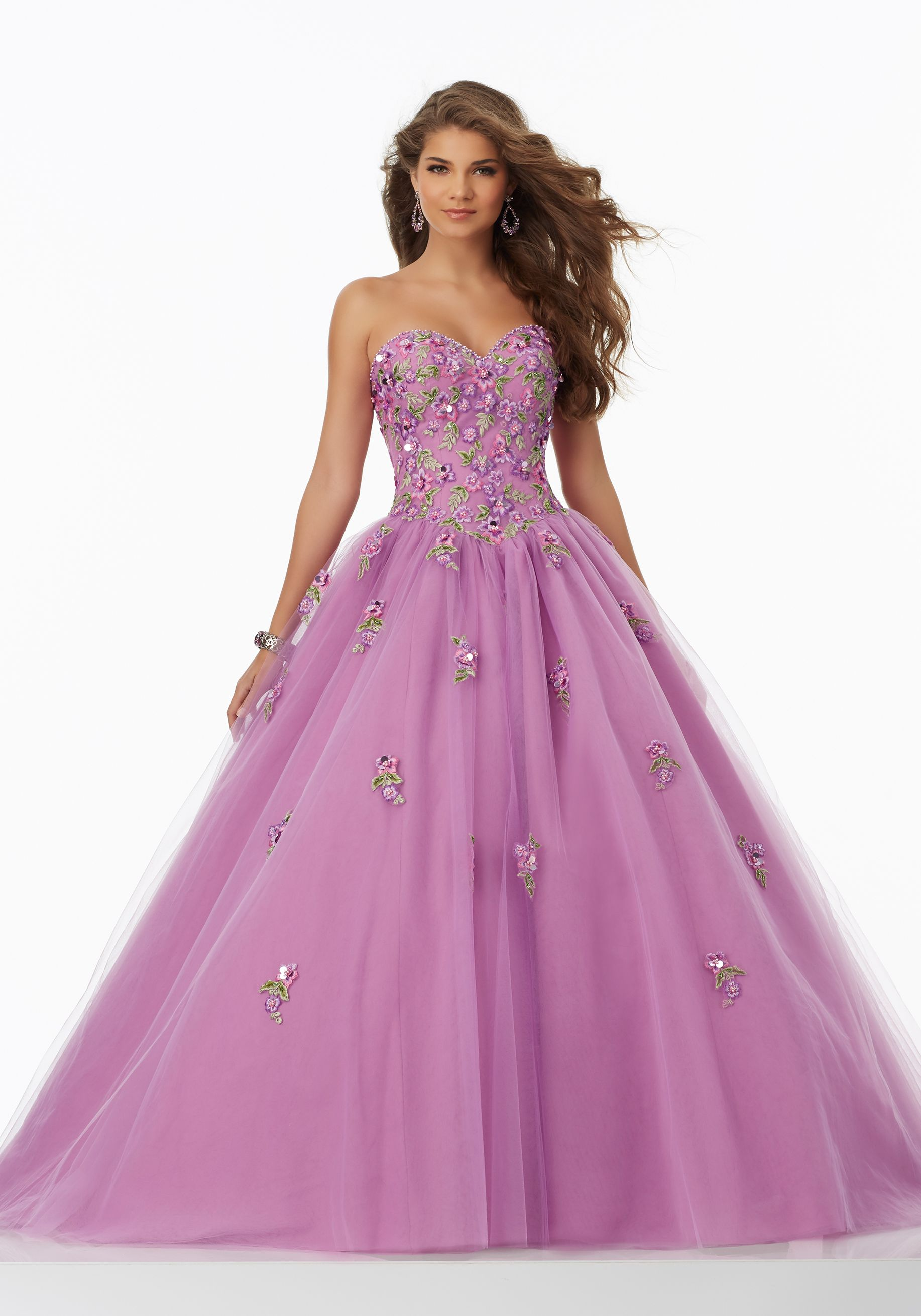 Mori Lee Prom Dress Floral | Ball Gown Prom Dresses | Pinterest ...