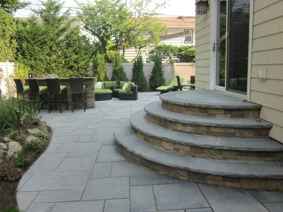 paver patio cambridge cast stone slab bluestone merrick