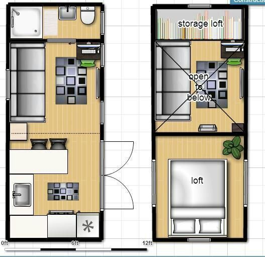 Pin By Lori On 200 Sq Ft Or Less Floorplans
