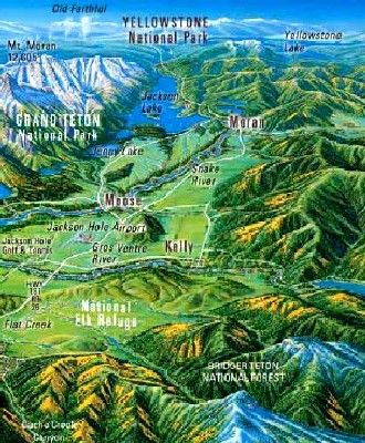 Jackson Hole, Wyoming Map | map | Wyoming, Jackson hole, Yellowstone ...