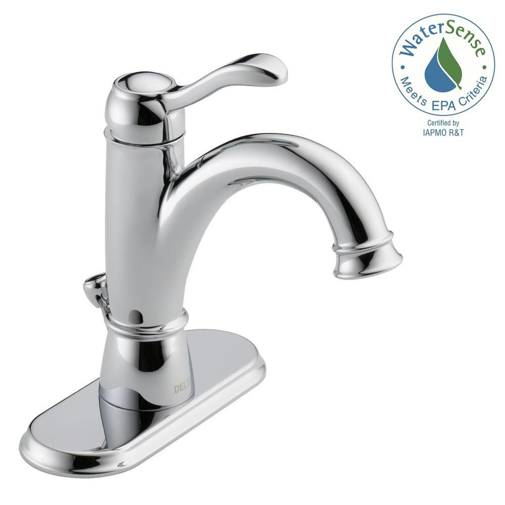 Delta Porter Single Hole Single Handle Bathroom Faucet In Brushed Nickel 15984lf Bn Eco The Home Depot Delta Faucets Bathroom Single Handle Bathroom Faucet High Arc Bathroom Faucet [ 1000 x 1000 Pixel ]