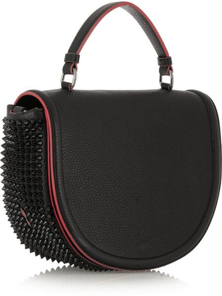 3603871bf9e Christian Louboutin Panettone Messenger Spiked Textured-Leather Tote ...
