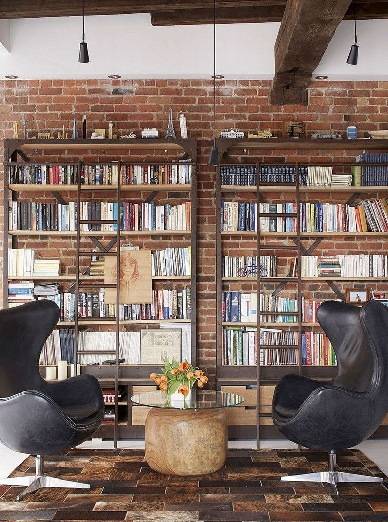 Home Library Loft: 45+ Awesome Industrial Library Everyone Should Keep