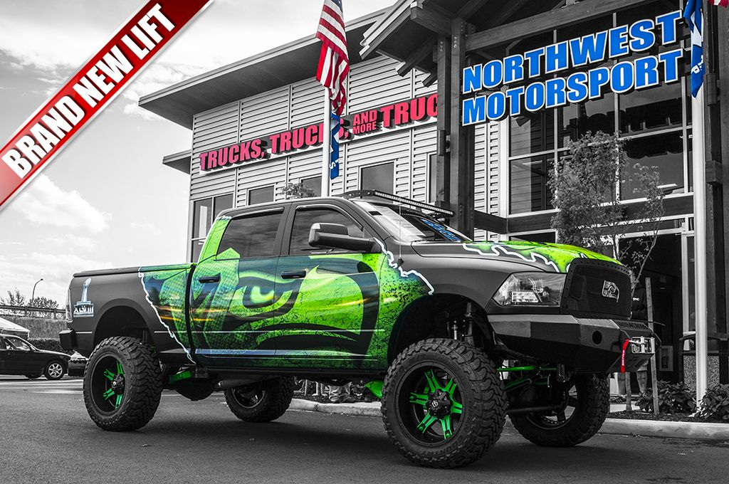 2014 Dodge Ram 2500 Hawks 4x4 custom wrapped with Seahawk