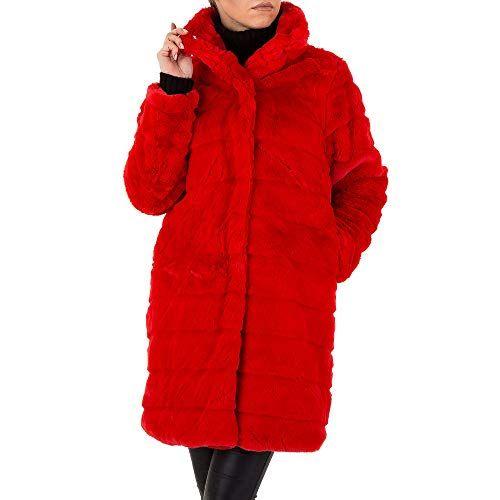quite nice e2a22 b40e4 Ital-Design Kunstfell Kurz Mantel Für Damen Rot In Gr. L ...