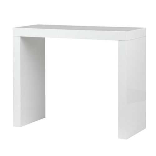 White High Gloss Console Table