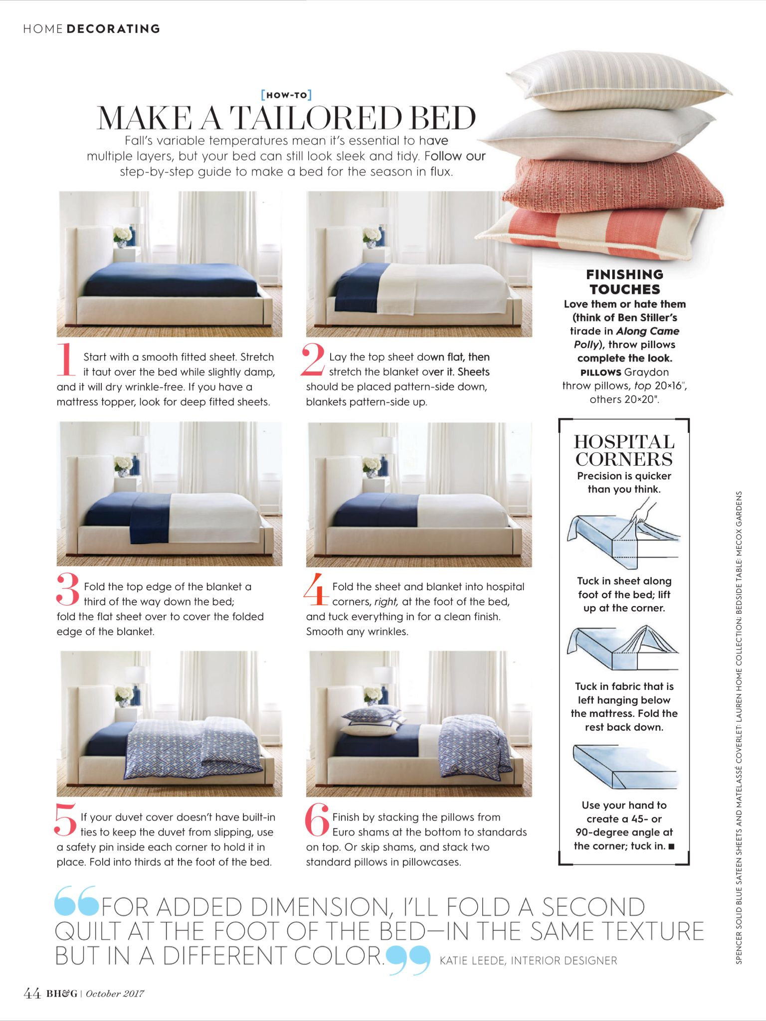 """Making a Proper Bed"" from Better Homes and Gardens"