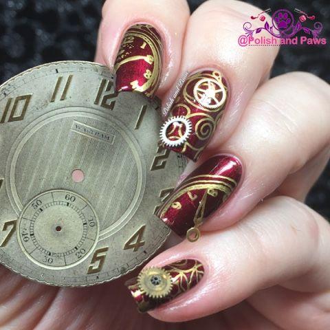 Polish and paws nail art clock steampunk nails nail polish polish and paws nail art clock steampunk nails prinsesfo Gallery