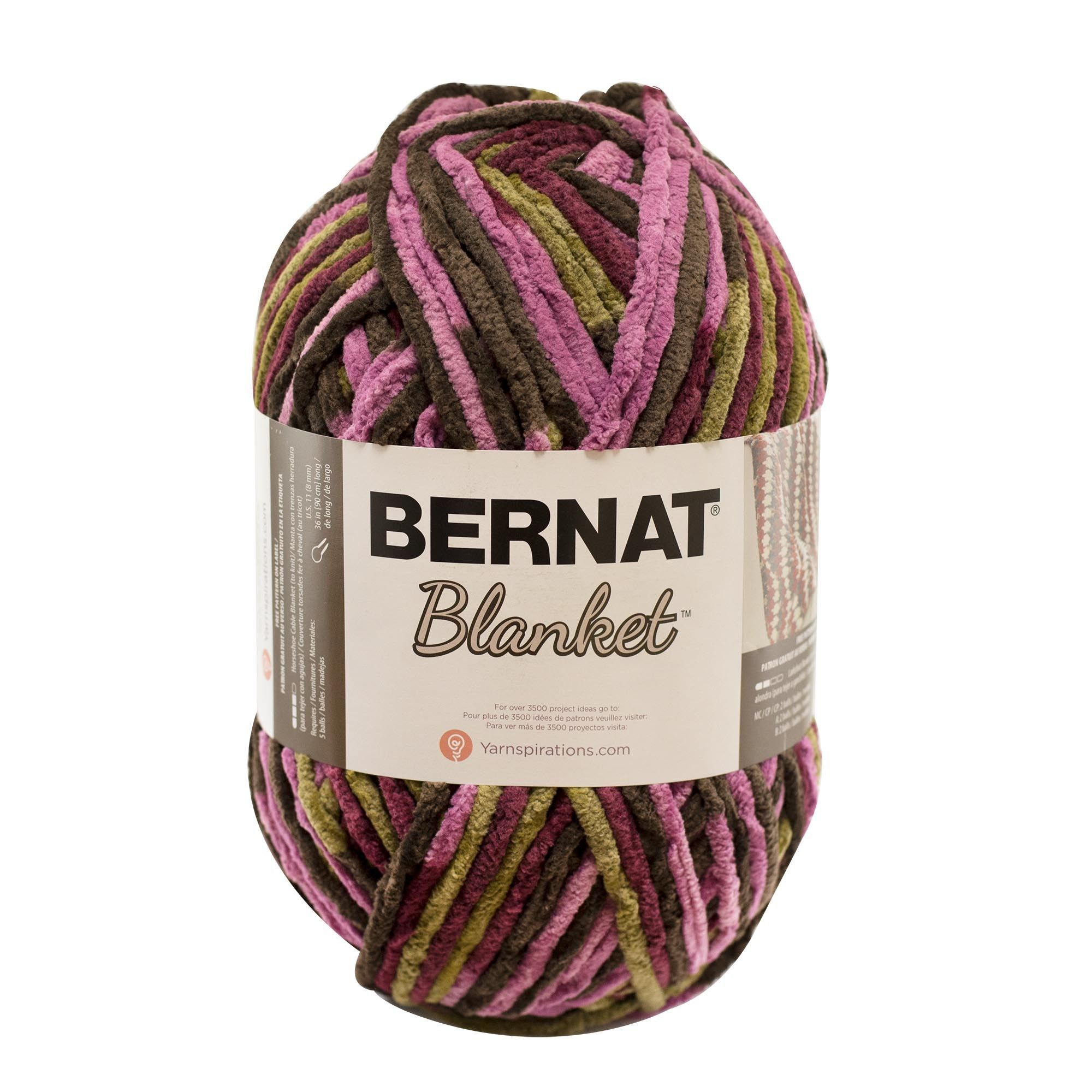 Bernat Blanket Yarn Plum Chutney (With images) | Bernat ...