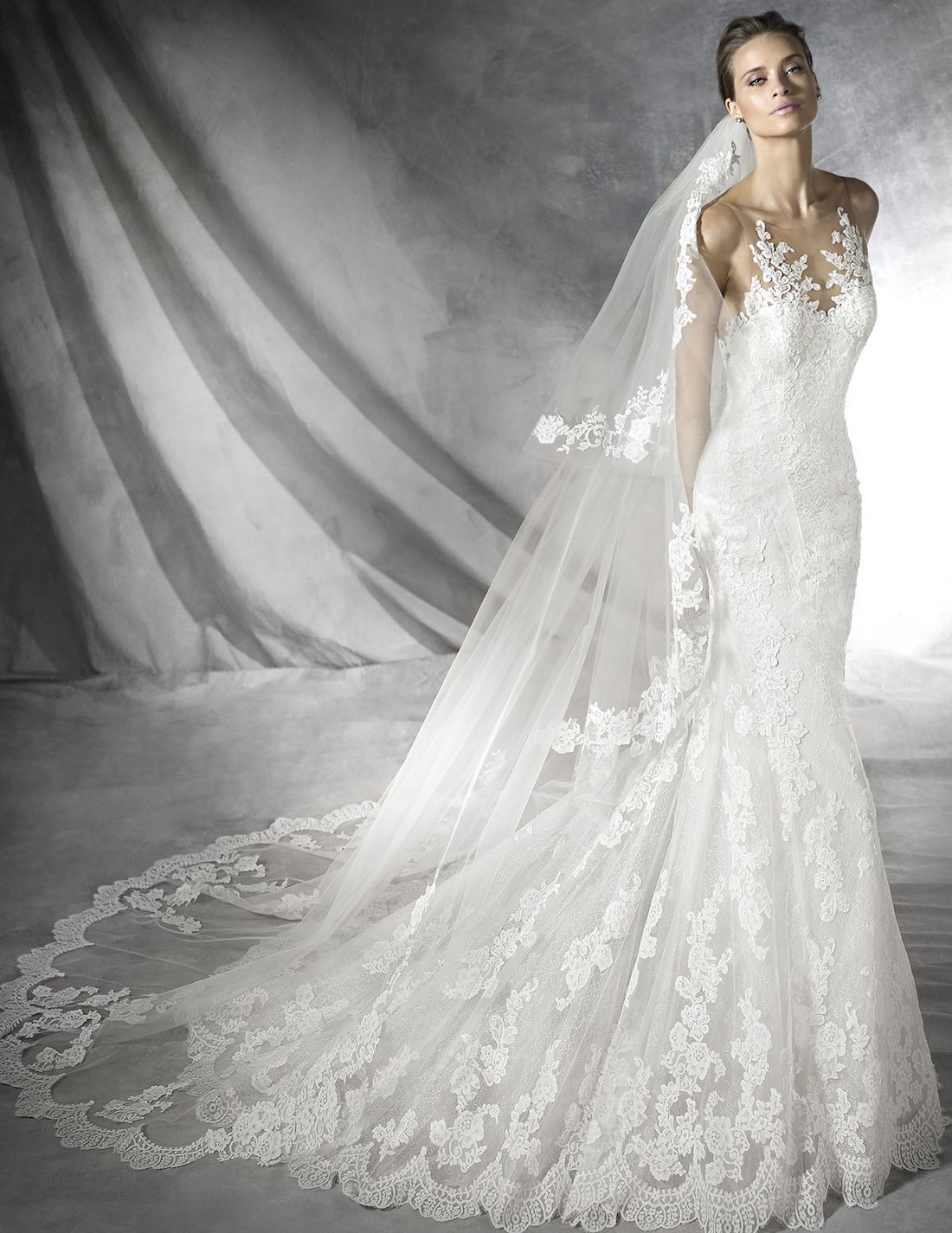 Pronovias placia wedding gown hochzeitskleider pinterest gowns