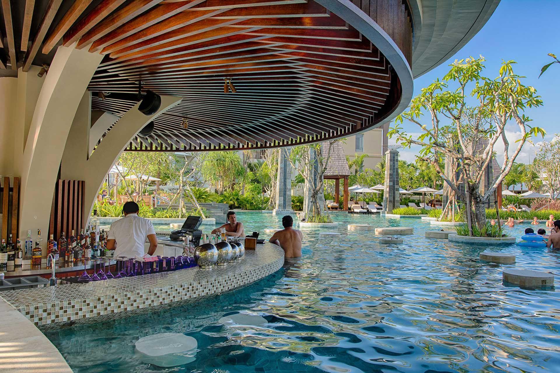 Sofitel Nusa Dua Pool Bar | water feature | Pinterest | Pool bar ...