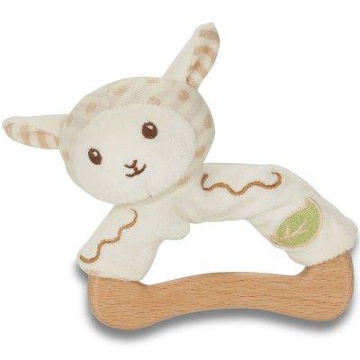 Le hochet mouton peluche et bois de la marque Everearth assurera à votre enfant une bonne prise en main grâce à l'anneau en bois.