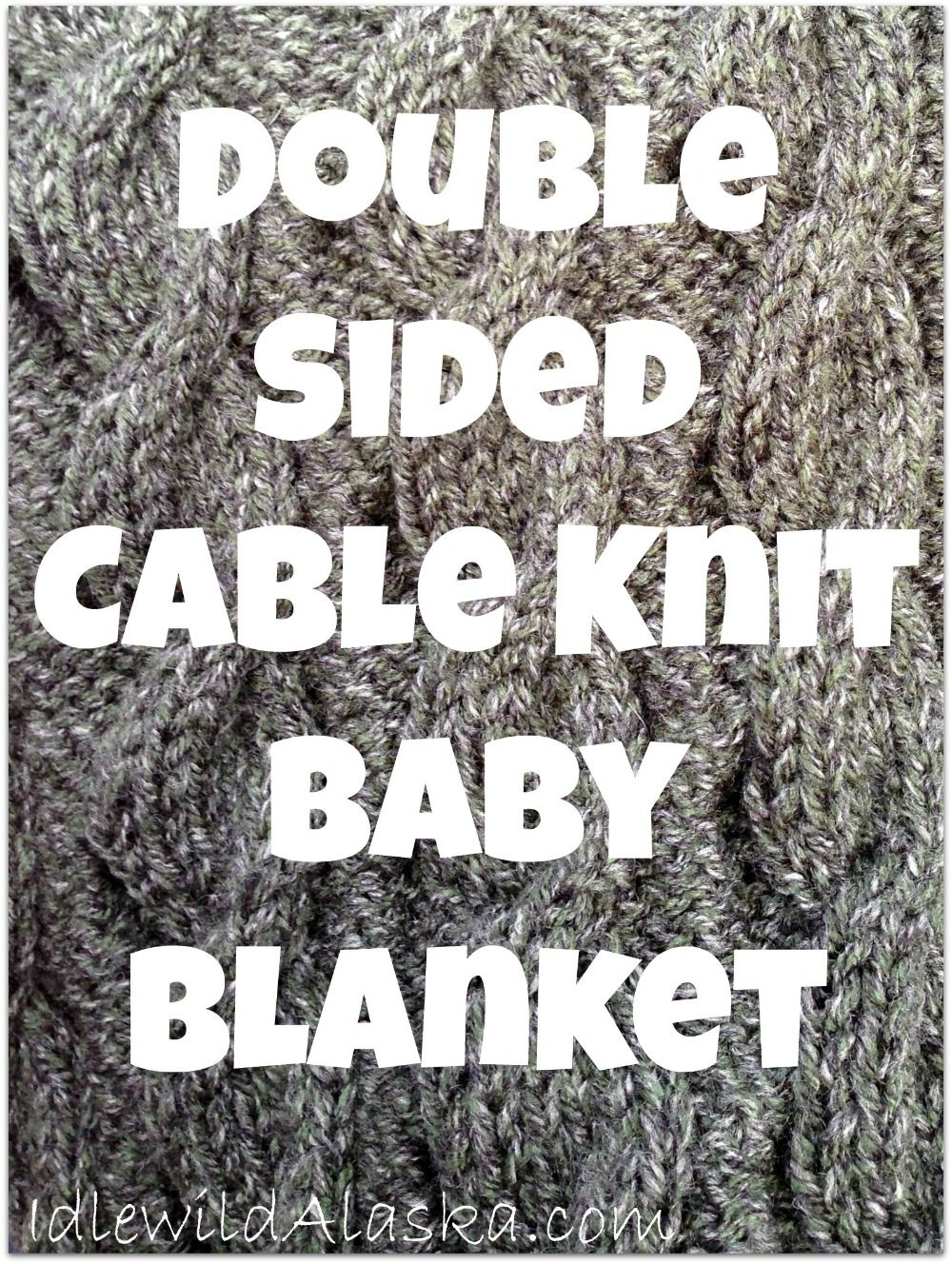 Reversible Cable Knit Baby Blanket #Baby-Blanket, #Beginner, #Knitting, #Tutorial #Country-Crafts