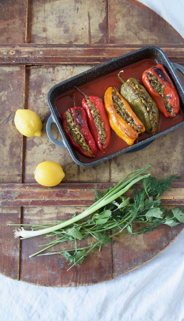 Dolmeh Felfel - Gefüllte Spitzpaprika nach persischer Art - Labsalliebe #levanteküche