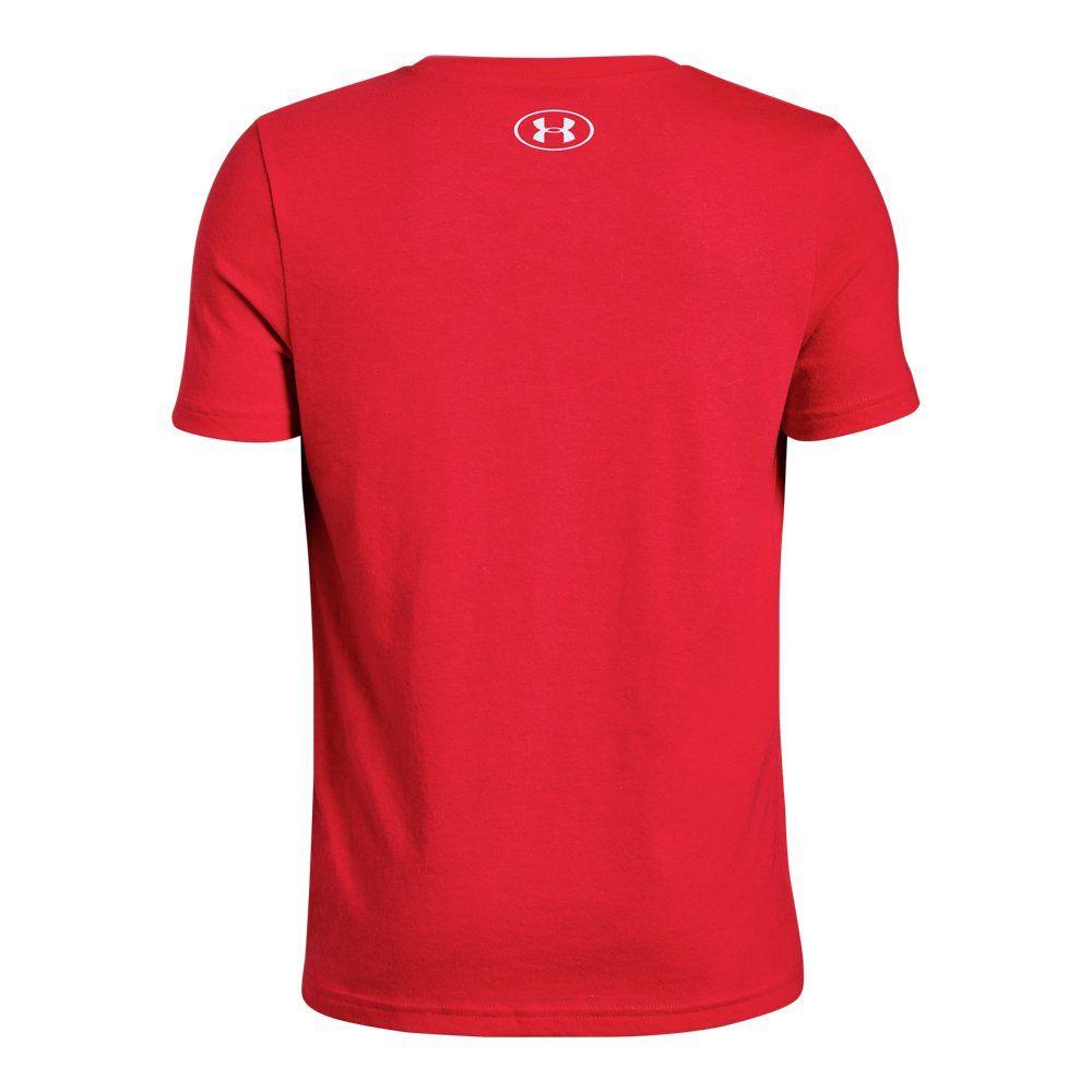 Boys Ua Hockey Logo Short Sleeve Under Armour Us Under Armour Printed Shorts Sleeves