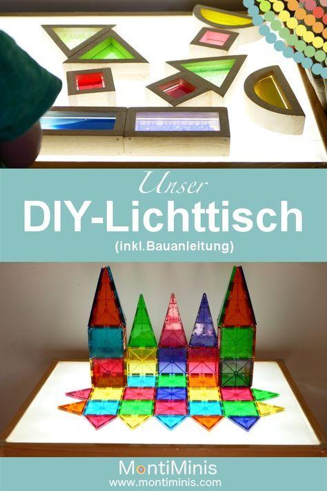 DIY - Ein Lichttisch für die Minis - Montessori Blog - MontiMinis #salledejeuxenfant