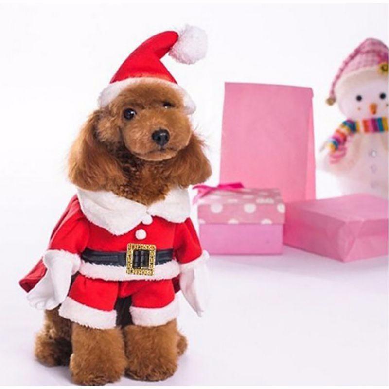 Santa Claus Dog Pet Walking Outfit Christmas Dog Costume Pet