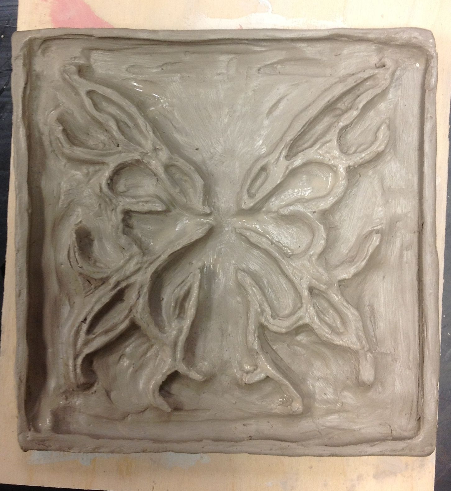 Ceramic relief tile high school lessons