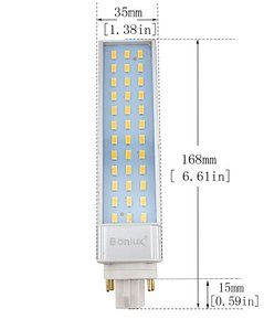 Bonlux 2 Pack 13w Gx24 Rotatable Led Plc Lamp G24q Gx24q 4 Pin Base 26w Cfl Compact Fluorescent Lamp Replacement Compact Fluorescent Lamps Led Light Bulb Bulb