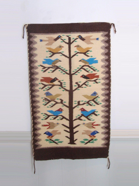 Beautiful Wool Weaving Boho Wall Hanging Tree Of Life