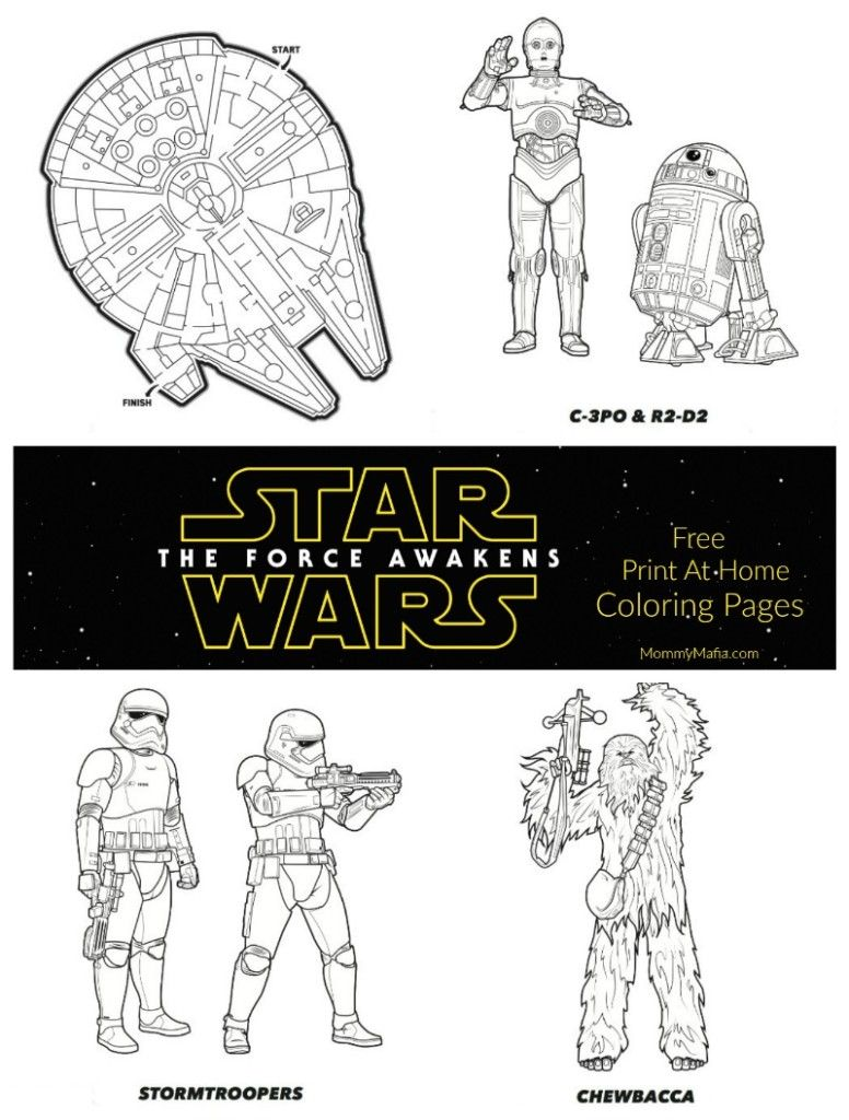 Star Wars: The Force Awakens Free Coloring pages; Free Star Wars ...