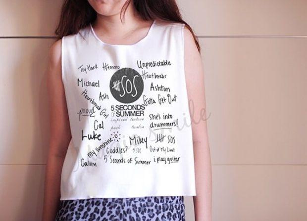 d4602ed0ba5f 5 Second of Summer Shirt 5SOS shirt Premium cotton Crop tank