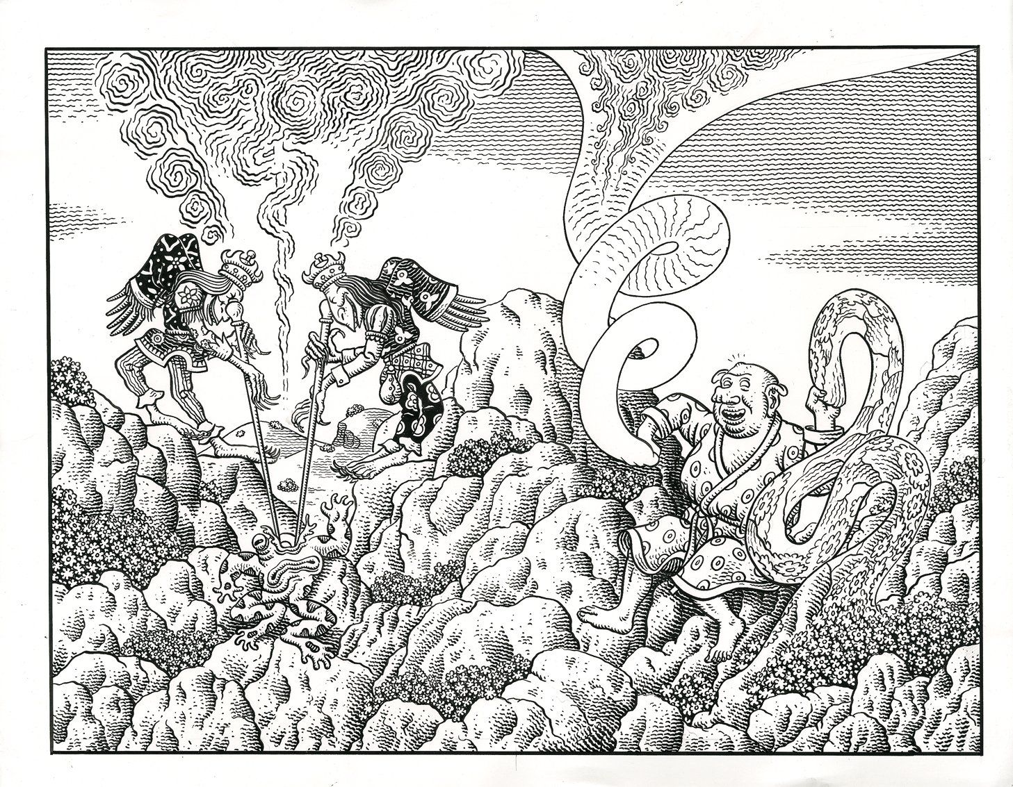 weathercraft by jim woodring pen ink pinterest drawings and