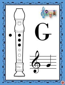 Music A Posters Recorder Fingering Charts Set   Music Posters