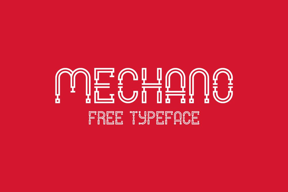 This cool custom font is from Andrea Prina. With cool industrial ...