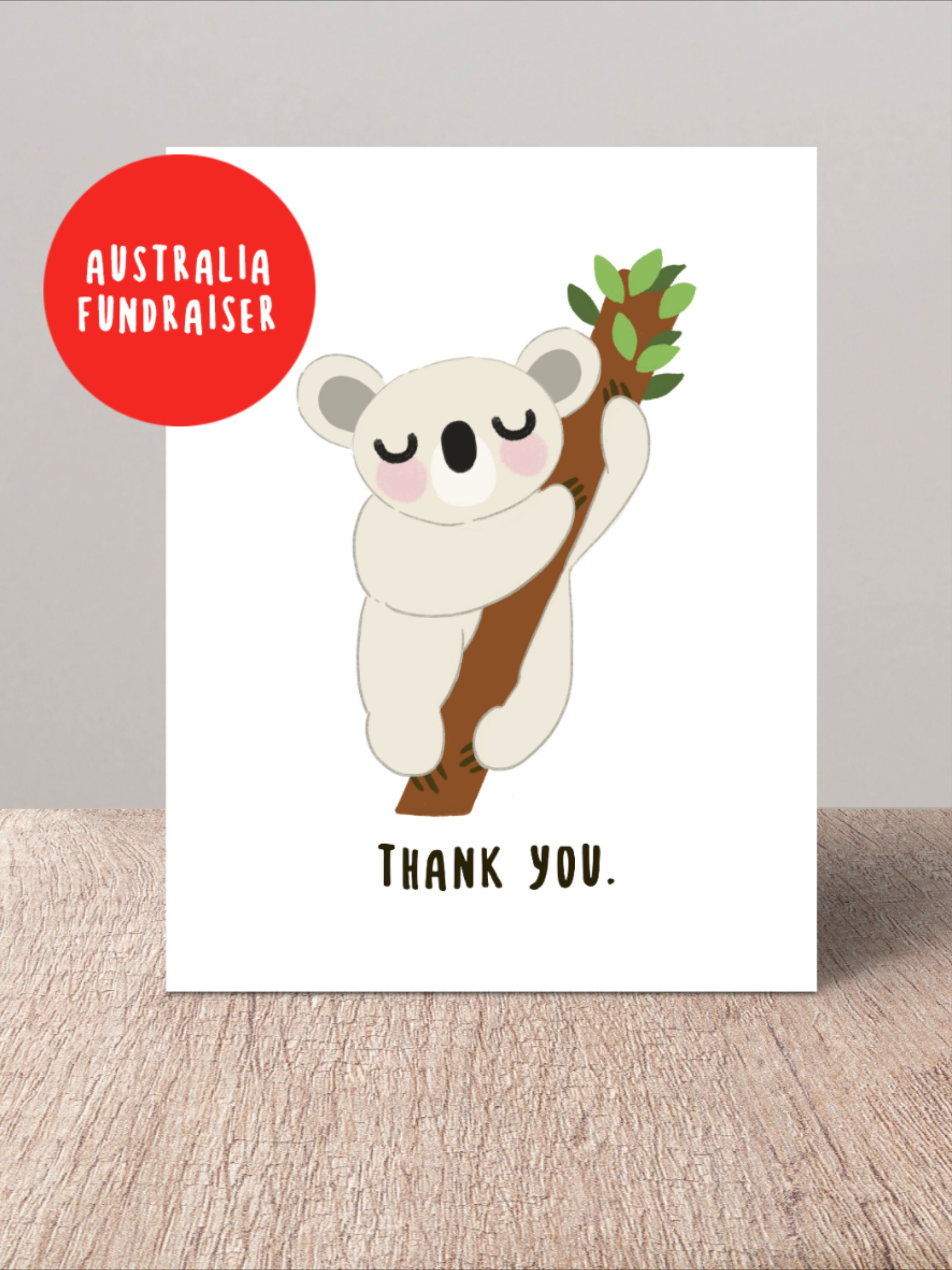 Thank You Card Pack Koala Thanks Cards For Friend Australia Etsy Thanks Card Cards For Friends Thank You Cards