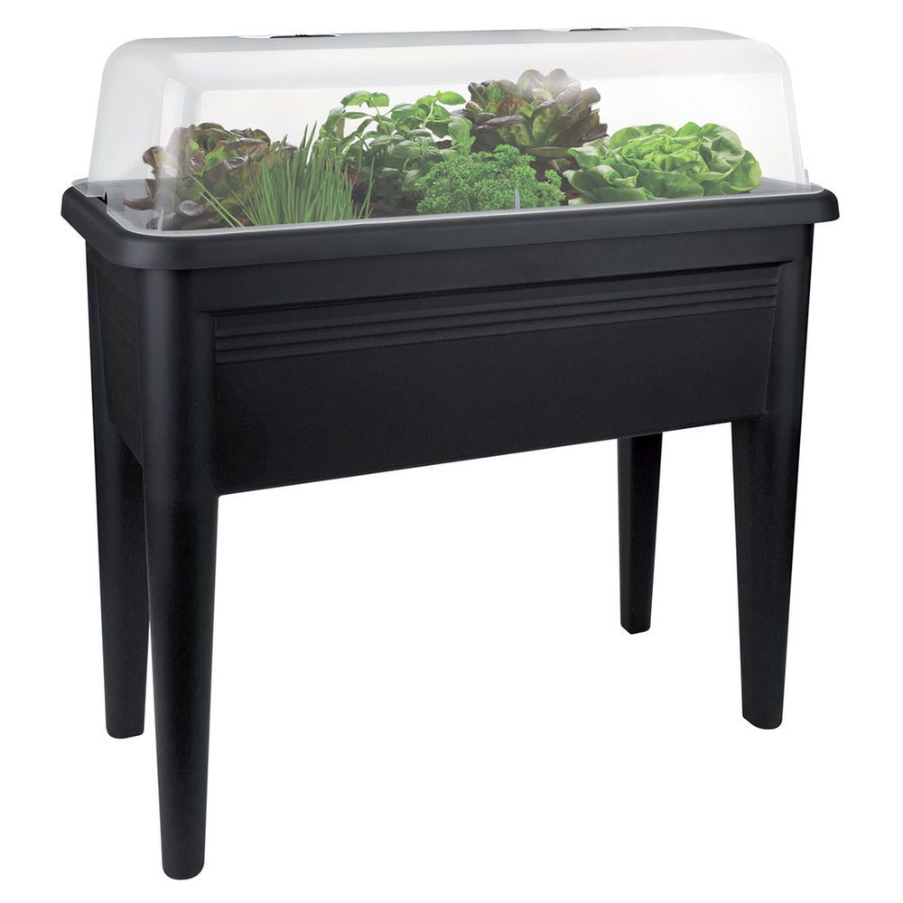 Elho Green Basics Grow Table Xxl Black Masters Home Improvement Growing Vegetables Balcony Plants Garden Equipment