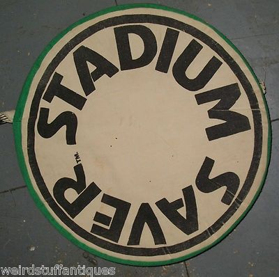 vintage Stadium Saver seat cushion collectible game accessory green
