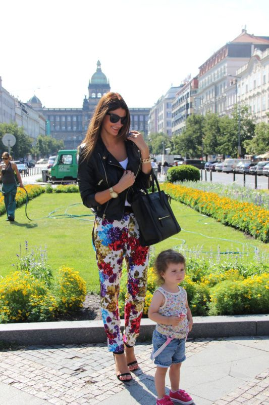 Flowered trousers